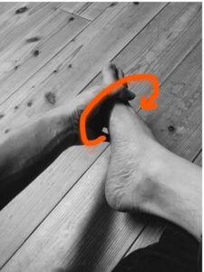 足底筋膜炎のための足首回し